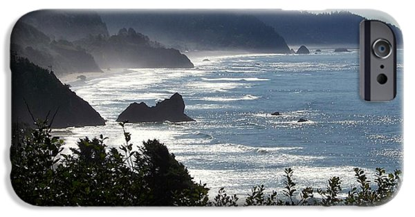 Oregon Coast iPhone Cases - Pacific Mist iPhone Case by Karen Wiles