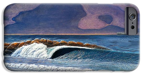Ocean Reliefs iPhone Cases - Pacific on Atlantic  iPhone Case by Nathan Ledyard