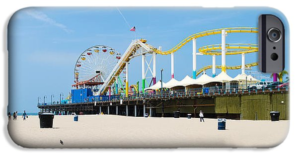 Santa iPhone Cases - Pacific Park, Santa Monica Pier, Santa iPhone Case by Panoramic Images