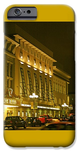 Night Lamp iPhone Cases - Pacific Theatres In San Diego At Night iPhone Case by Ben and Raisa Gertsberg