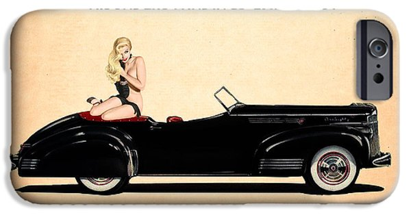 Vintage Car iPhone Cases - Packard Go Topless iPhone Case by Cinema Photography