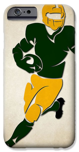 Sports iPhone Cases - Packers Shadow Player iPhone Case by Joe Hamilton