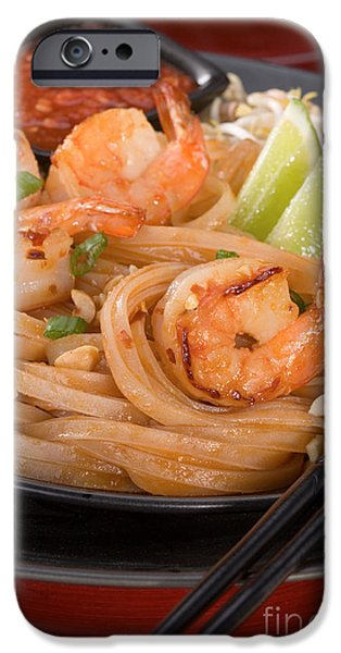 Commercial Photography iPhone Cases - Pad Thai iPhone Case by Iris Richardson