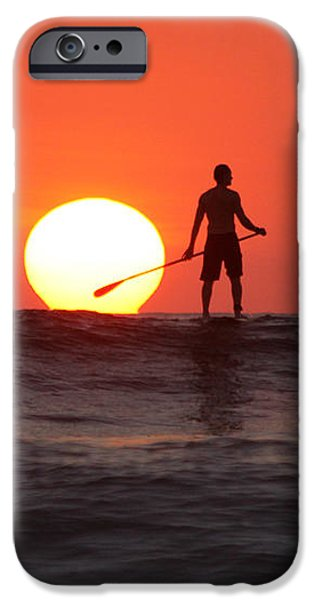 Paddle Board Sunset iPhone Case by Nathan Miller