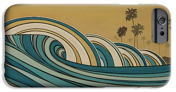The Hills Mixed Media iPhone Cases - Paddle Out iPhone Case by Joe Vickers