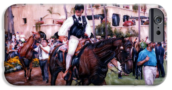 The World Is Money iPhone Cases - Paddock Leader Del Mar iPhone Case by Glenn McNary