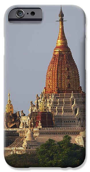 Pagoda In Bagan, Upper Burma Myanmar iPhone Case by Chris Caldicott