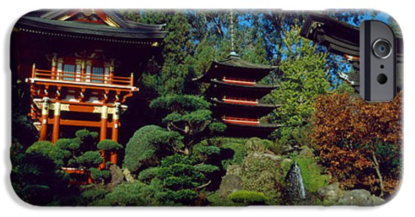 Buddhism iPhone Cases - Pagodas In A Park, Japanese Tea Garden iPhone Case by Panoramic Images