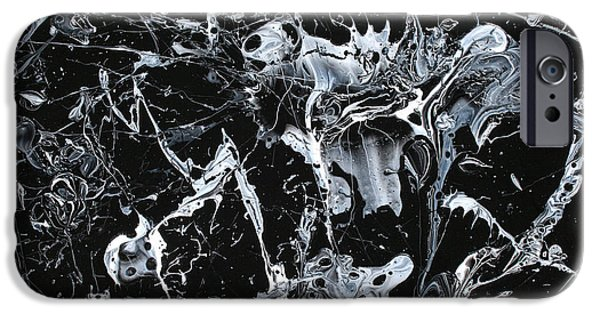Abstract Expressionism iPhone Cases - Paint #55 iPhone Case by Ric Bascobert