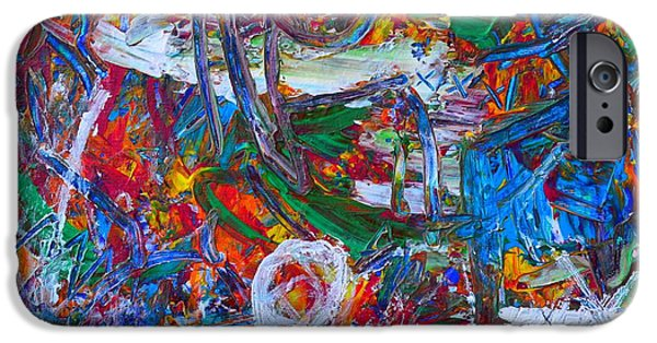 Dynamism iPhone Cases - Paint Action 3 iPhone Case by Ana Maria Edulescu
