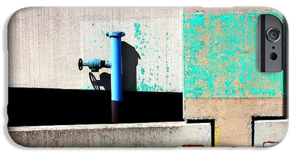 Industrial iPhone Cases - Paint and Pipe Abstract Industrial Decay Series No 003 iPhone Case by Design Turnpike