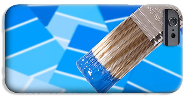 Samples iPhone Cases - Paint Brush - Blue iPhone Case by Amanda And Christopher Elwell
