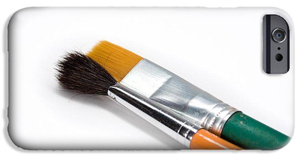 Work Tool iPhone Cases - Paint Brushes iPhone Case by GP Images