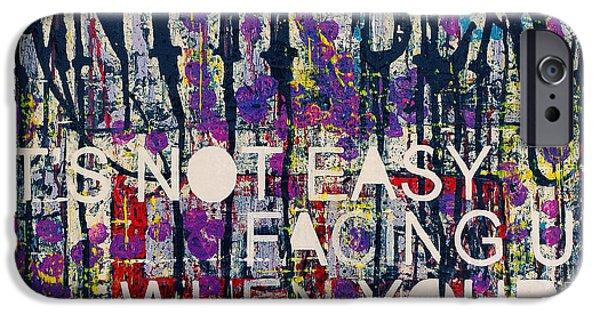 Rollingstone iPhone Cases - Paint it black iPhone Case by Frank Van Meurs