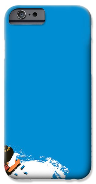 Paint it blue iPhone Case by Budi Satria Kwan