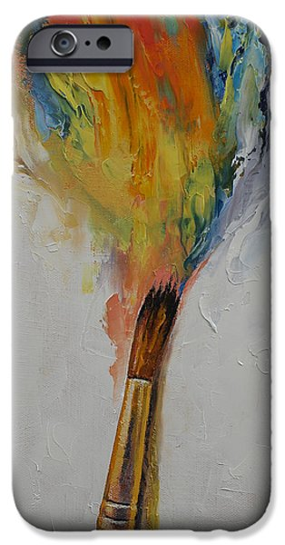 Michael iPhone Cases - Paint iPhone Case by Michael Creese