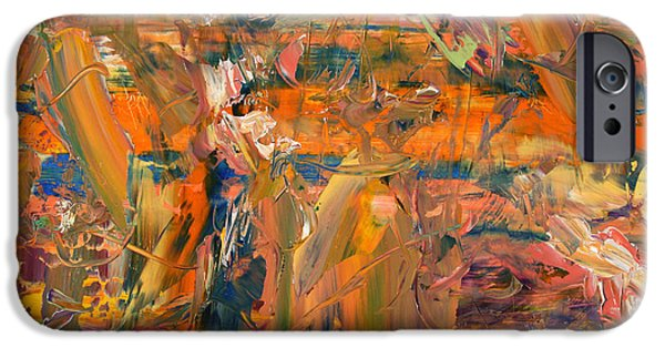 Abstract Expressionist iPhone Cases - Paint Number 45 iPhone Case by James W Johnson