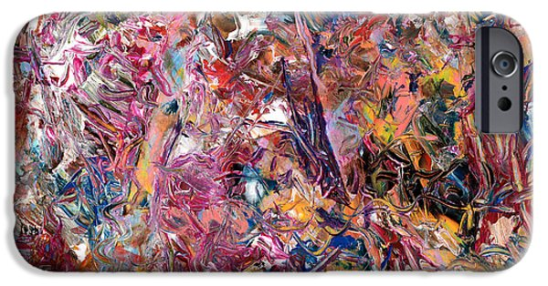 Abstract Expressionism Paintings iPhone Cases - Paint number 49 iPhone Case by James W Johnson