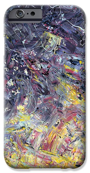 Abstract Expressionism Paintings iPhone Cases - Paint number 55 iPhone Case by James W Johnson