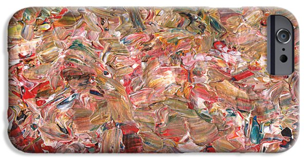 Abstract Expressionism Paintings iPhone Cases - Paint number 56 iPhone Case by James W Johnson