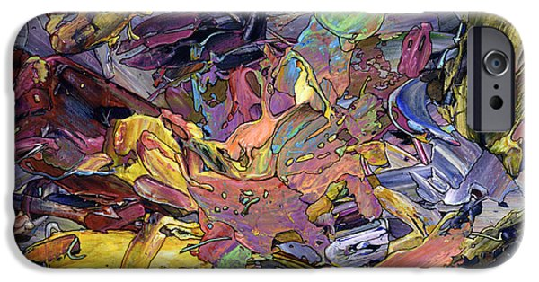 Abstract Expressionism Paintings iPhone Cases - Paint number 60 iPhone Case by James W Johnson