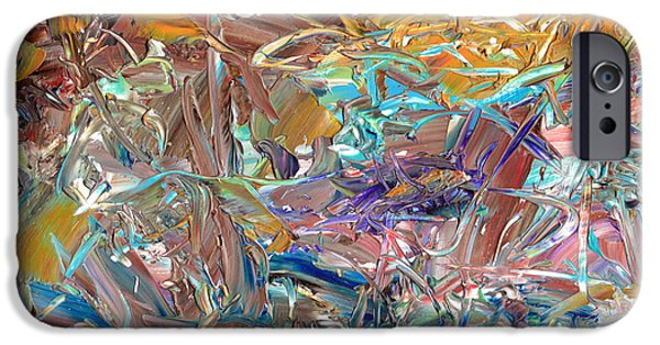 Texture Paintings iPhone Cases - Paint number46 iPhone Case by James W Johnson