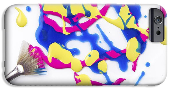 Brush Photographs iPhone Cases - Paint Splatter iPhone Case by Diane Diederich