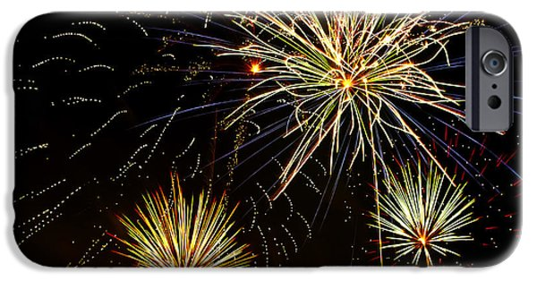 4th July Photographs iPhone Cases - Paint the Sky with Fireworks  iPhone Case by Saija  Lehtonen