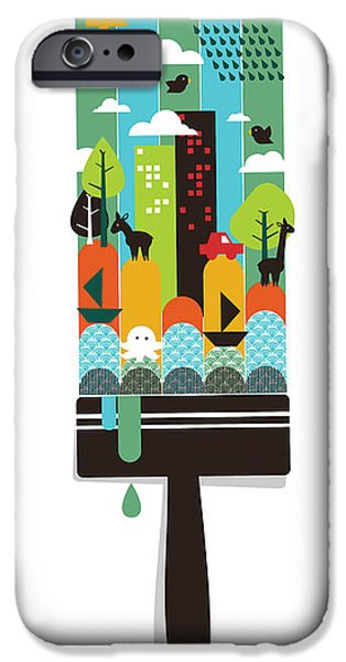 Child iPhone Cases - Paint Your World iPhone Case by Budi Kwan