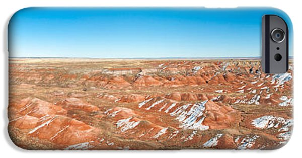 Petrified Forest Arizona iPhone Cases - Painted Desert, Petrified Forest iPhone Case by Panoramic Images