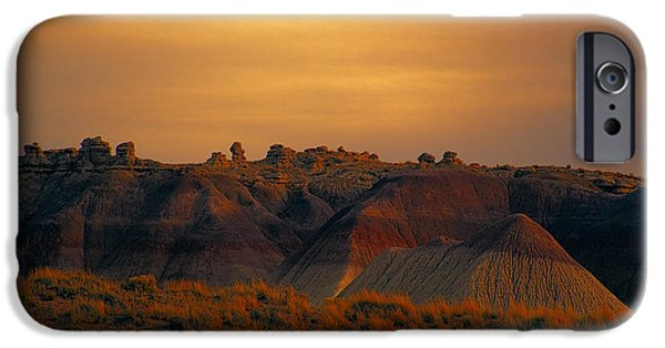 Petrified Forest Arizona iPhone Cases - Painted Desert V4 iPhone Case by Douglas Barnard