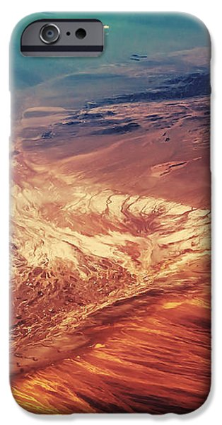 Painted Earth iPhone Case by Jenny Rainbow