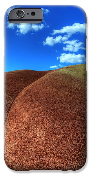 Canadian Photographer iPhone Cases - Painted Hills Blue Sky 2 iPhone Case by Bob Christopher