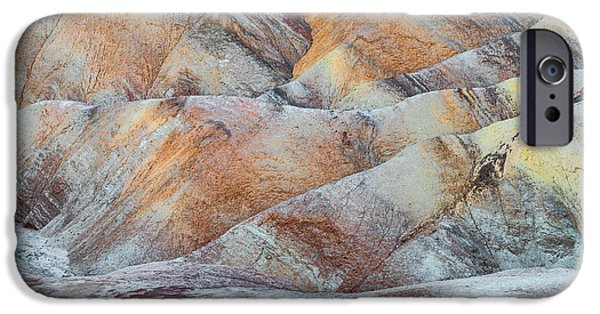 Sand Dunes iPhone Cases - Painted Hills in Death Valley iPhone Case by Larry Marshall