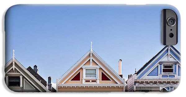 Edwardian iPhone Cases - Painted Ladies iPhone Case by Dave Bowman
