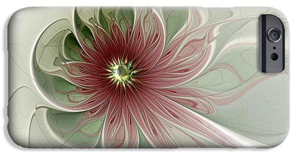 Floral Digital Art Digital Art Digital Art iPhone Cases - Painted Lady II iPhone Case by Amanda Moore