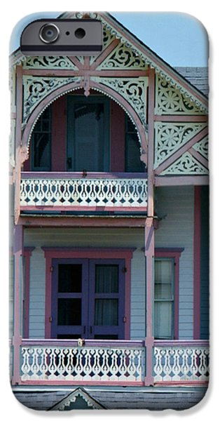 Painted Lady in Ocean Grove NJ iPhone Case by Anna Lisa Yoder