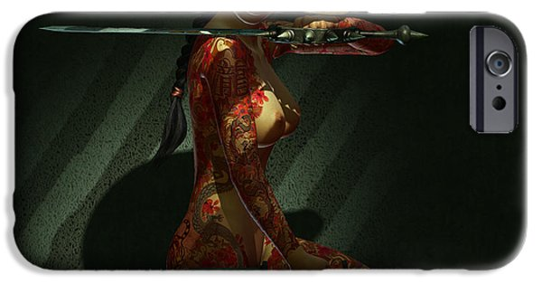 Recently Sold -  - Lips iPhone Cases - Painted Risk 4 iPhone Case by Alexander Butler