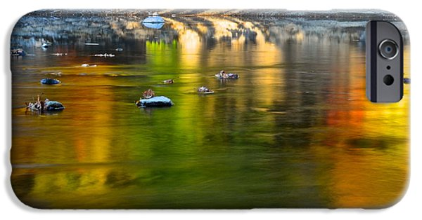 Oak Creek iPhone Cases - Painted River iPhone Case by Frozen in Time Fine Art Photography