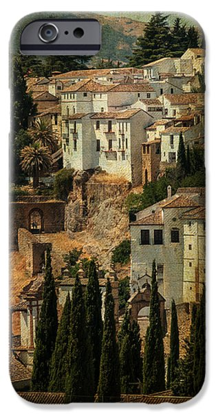 Painted Ronda. Spain iPhone Case by Jenny Rainbow