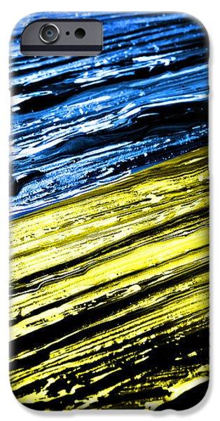 Nation iPhone Cases - Painted Ukraine Flag iPhone Case by Dan Radi
