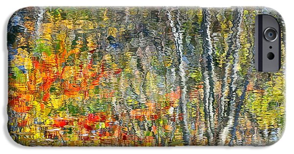 Willow Lake iPhone Cases - Painted Watercolor Photo iPhone Case by Frozen in Time Fine Art Photography