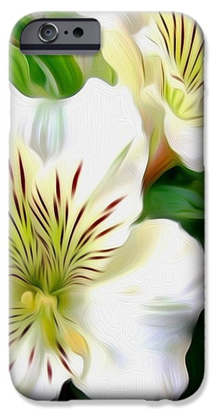Painterly Alstroemeria iPhone Case by Kaye Menner