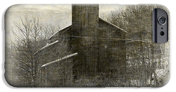 Built Structure iPhone Cases - Painterly Old Barn iPhone Case by John Stephens