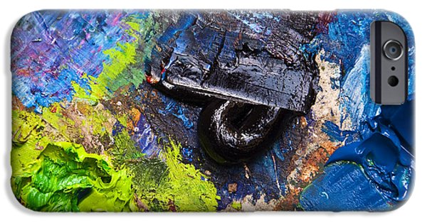 Painter Photographs iPhone Cases - Painters palette iPhone Case by Delphimages Photo Creations