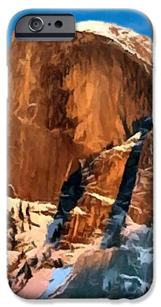 Painting Half Dome Yosemite N P iPhone Case by  Bob and Nadine Johnston