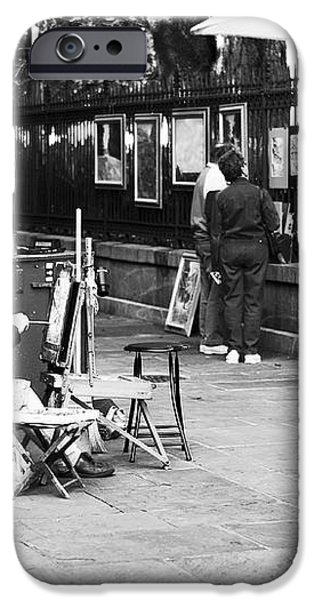 Painting in New Orleans iPhone Case by John Rizzuto