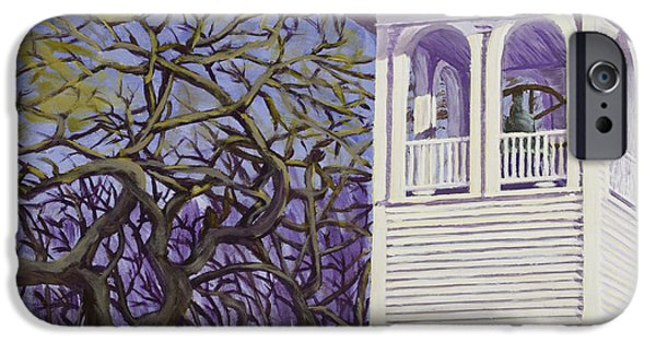 Downeast iPhone Cases - Country Church and Old Tree in Rural Maine iPhone Case by Keith Webber Jr