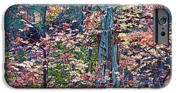 West Fork iPhone Cases - Painting of Leaves iPhone Case by Brian Lambert