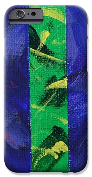 Abstract Expressionist iPhone Cases - God is Love - 1 John 4 8 - Abstract Expressionist Painting iPhone Case by Philip Jones
